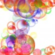 Fondo abstracto con globos transparentes - Stock Photo