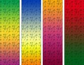 Abstract background with color samples — Stock Photo