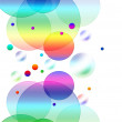Royalty-Free Stock Photo: Abstract background with colored circles