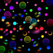 Abstract background with dark colored circles — Stock Photo #11576366