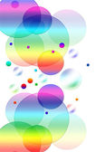 Abstract background with colored circles — Stock Photo