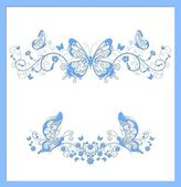 Butterfly blue abstract background — Stock Photo