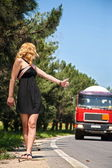 Hitchhiking — Stockfoto