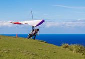 A Leap of Faith - Hang Glider — Stock Photo