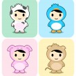 Royalty-Free Stock Vectorielle: Cute animal costume