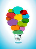 Colorful Idea — Stock Vector