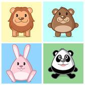 Cute Animal Series — Stock Vector