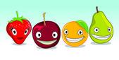 Happy Fruit — Stock Vector