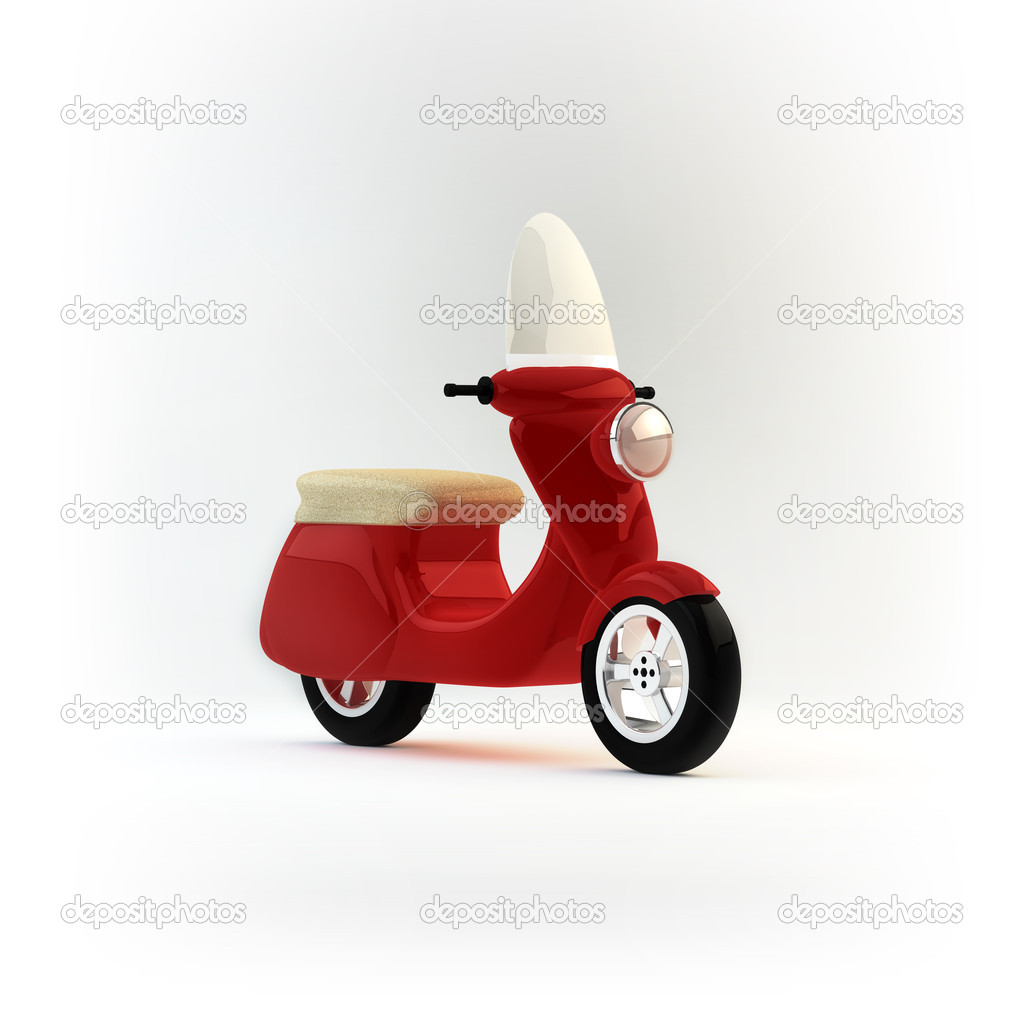 Red Scooter — Stock Photo #11236385
