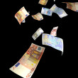 Euro money rain — Stock Photo #11770661