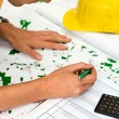 Builder checking plans — Stock Photo #11770776