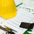 Construction finances — Stock Photo
