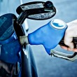 Filling up at the gas station — Stock Photo