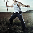 Action Farmer - Stock Photo