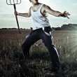 Action Farmer — Stock Photo