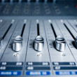 Audio Engineer Mixing Board — Foto de Stock