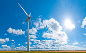 Wind turbines in countryside — Stock Photo