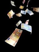 Euro money rain — Stock Photo