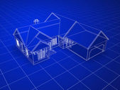 Blueprint house — Stock Photo