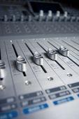 Audio Engineer Mixing Board — Stock Photo