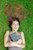 Bible girl — Stock Photo