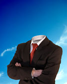Headless business man — Stock Photo