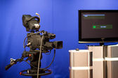 Tv-camera in studio — Stockfoto