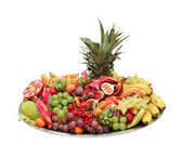 Exotic fruit buffet — Stock Photo