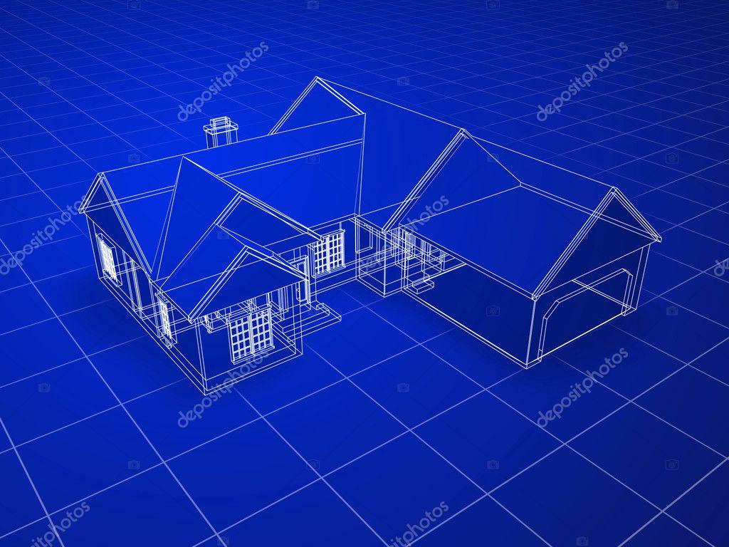 Blueprint house stock photo filmstroemstock 11770796 for How to make a blueprint