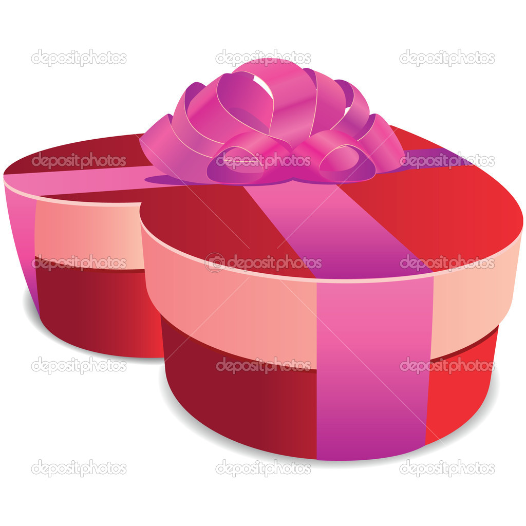 Valentine gift box isolated illustration  Stock Vector #11345812
