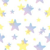Pastel Stars Pattern — Stockvektor