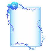 Quadro rosa azul — Vetor de Stock