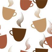 Naadloze koffie patroon — Stockvector