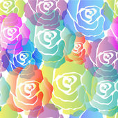 Seamless Pattern Roses — Stock Vector