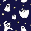 Vector de stock : Seamless pattern made of ghost
