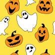 Stock Vector: Seamless halloween pattern
