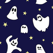 Seamless pattern made of ghost — Stock Vector