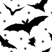 Seamless halloween pattern with bats — Stock Vector