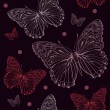 Butterfly dark seamless - Stock Vector