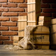 Stock Photo: Wooden crates packed for export