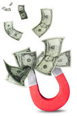 Concept of attracting money — Stock Photo