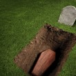 Coffin or tomb at graveyard — Stock Photo #11458813