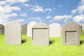 Cemetery at day — Stock Photo