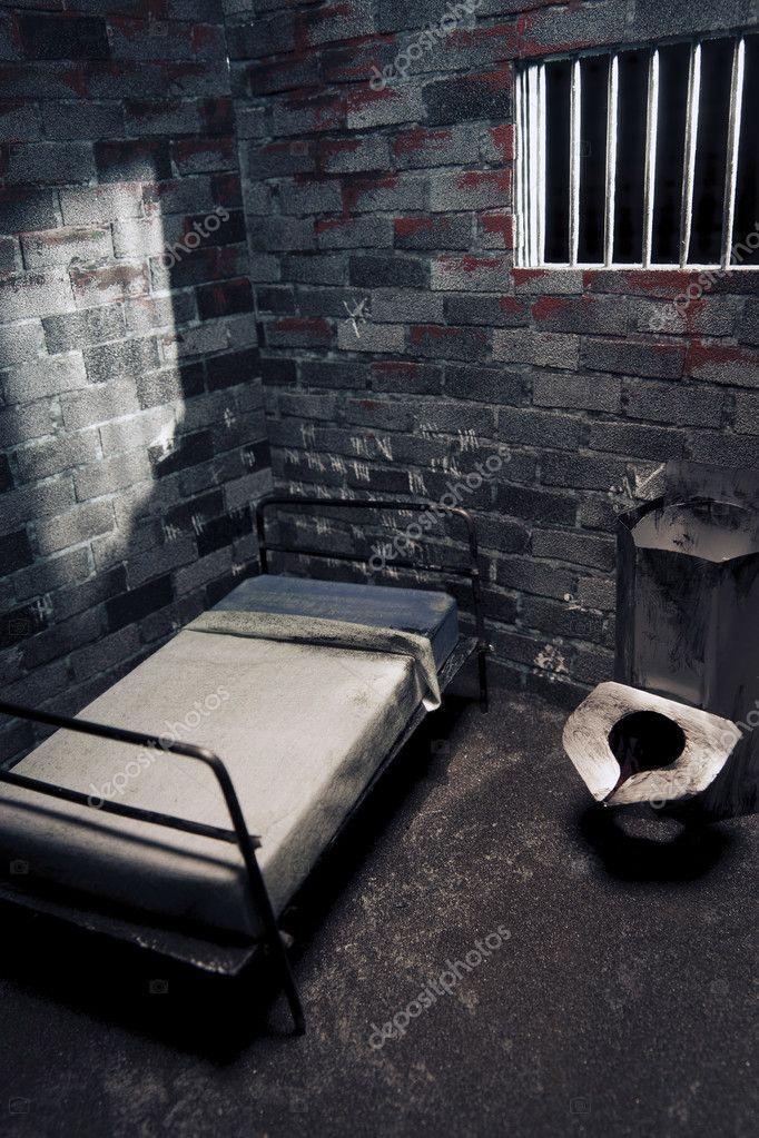 Dark prison cell at night — Stock Photo © fergregory #11458726