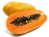 Papaya isolated on white — Stock Photo