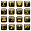 Royalty-Free Stock Vector Image: Communication icon set - golden series