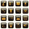 Communication icon set - golden series — Stock Vector #11484394