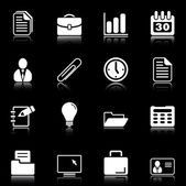 Office and business icons - black series — Stock Vector