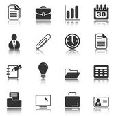 Office and business icons - white series — Stock Vector