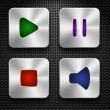 Audio icons set — Stock Vector